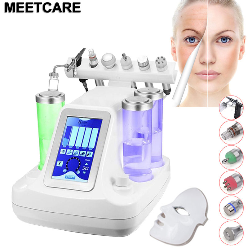 Small Bubble Vacuum Face Cleaning Instrument Hydro Water Oxygen Pore Cleaner Facial Massage Machine Skin Care BIO RF Lift