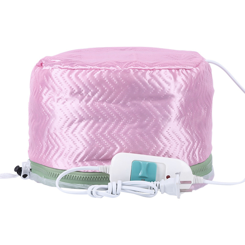 2019Hair Mask Baking Oil Cap Thermal Treatment Heating Cap Temperature Controlling Protection Electric Hair Steamer Mask Cap220V