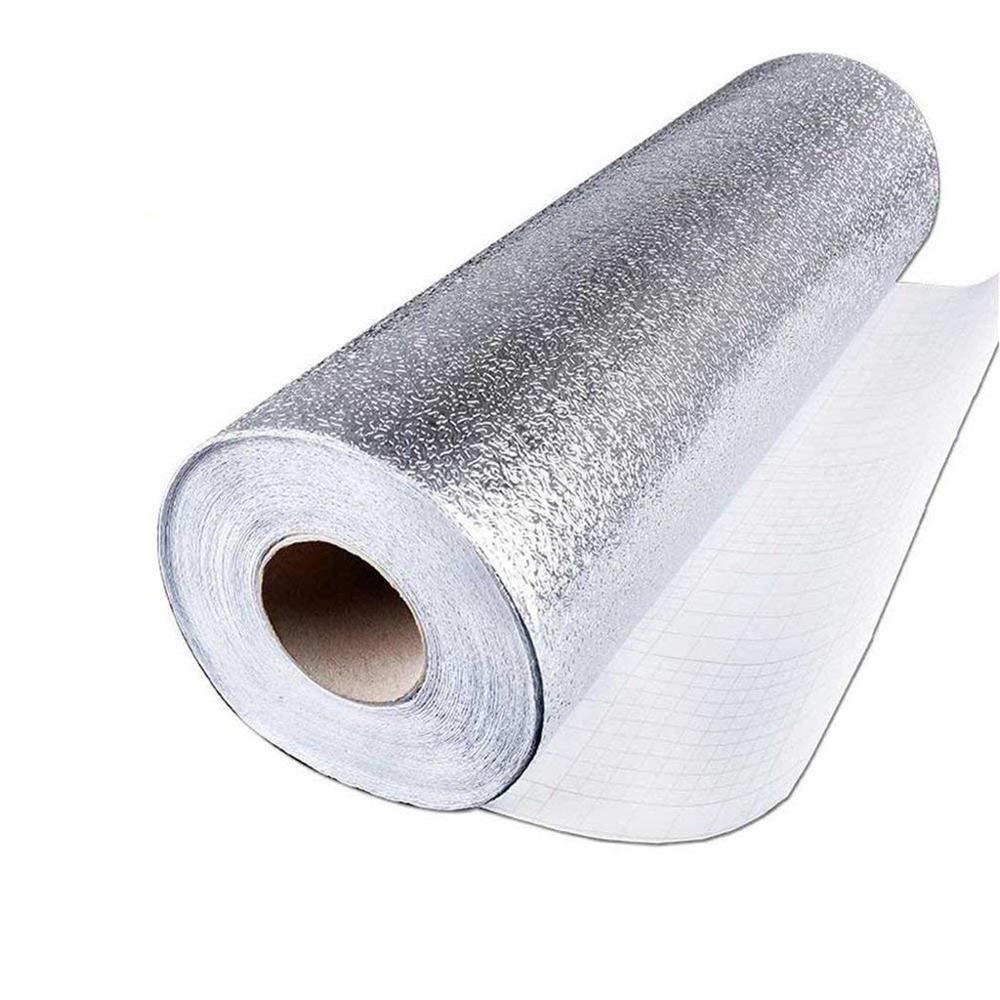 40x300cm cozinha à prova de óleo à prova dwaterproof água adesivos folha de alumínio armário fogão cozinha auto adesivo adesivo de parede papel de parede diy