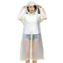 Raincoat Adult Mens and Womens Long EVA Universal Waterproof Poncho Travel Hoodie