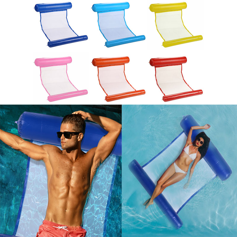 New Summer Pool Air Mattress Inflatable Floating Row Beach Foldable Swimming Pool Chair Hammock Water Sports Piscina Wholesale