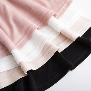 Image 5 - LOPNT New Silk loose V collar lace camisole Womens Sleepwear Sexy Silk Pajama V Neck Pyjamas Sleeveless night dress gecelik