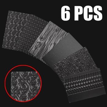 6 uds. Juego de láminas de textura para hornear textura transparente molde para tartas para galletas de bricolaje Fondant decoración artesanal de azúcar herramientas para hornear