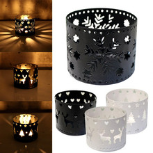 Candle-Holder Party-Decoration Atmosphere Creative of Strong Hollow Xms Joy High-Quality