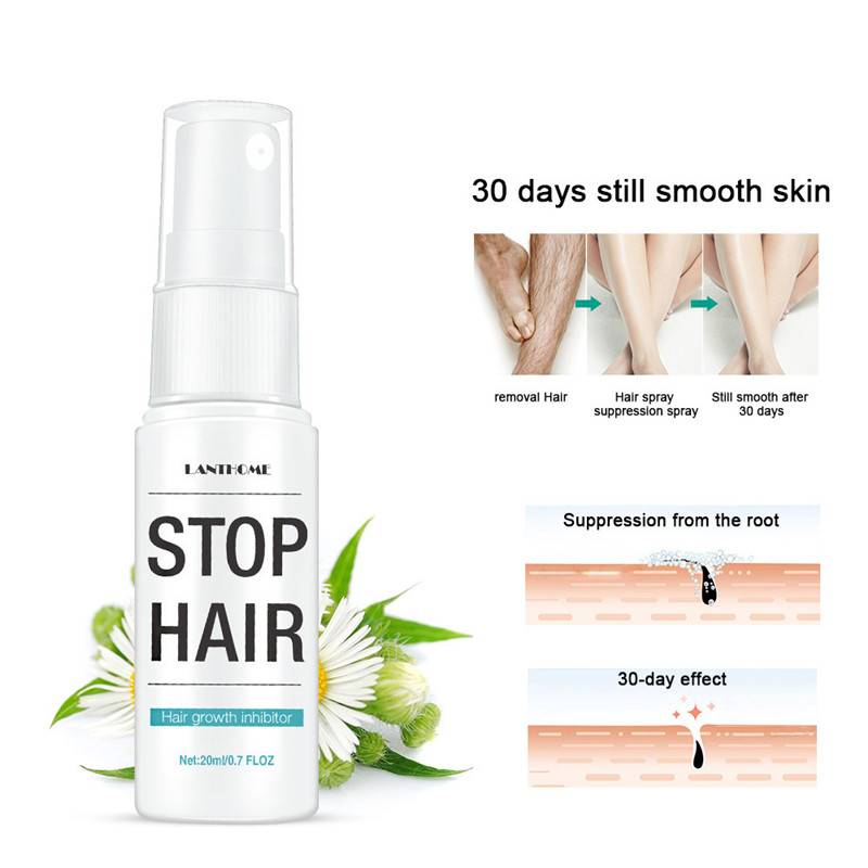 Smooth Body Hair Removal Treatment Permanent Stop Hair Growth Inhibitor Pubic Hair Repair Spray Facial Hair Remover For Women