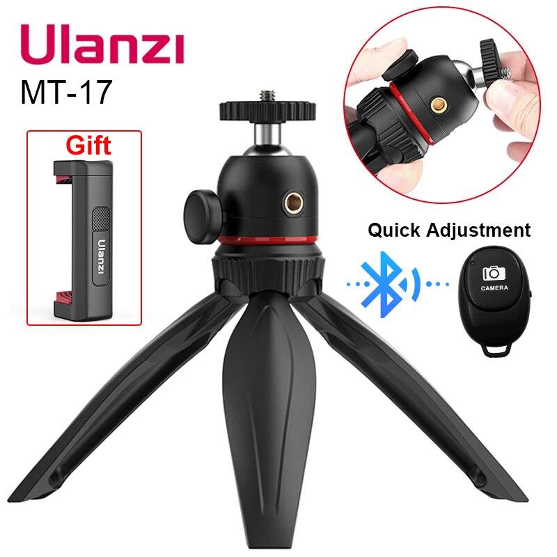 Ulanzi MT-17 mini tripé ajustável 360 rotação ballhead smartphone vlog tripé gopro 9 tripé com 1/4 parafuso tripé monopé