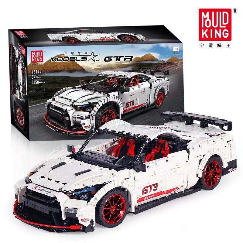Creative Series Moc Technic The  Nismo Nissan GTR GT3 Speed Racing Car Model Kit Building Blocks Bricks Legoed Kids Toys Giftss