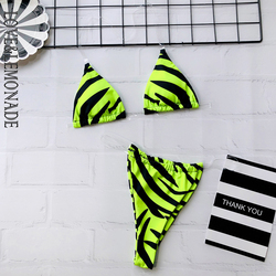 Miłość i lemoniada seksowny nadruk zwierzęta przezroczysty pasek biustonosz dwuczęściowy damski strój kąpielowy Bikini LMSW42 1