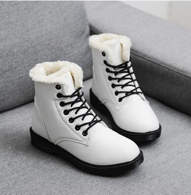 YEELOCA 2020  Winter Boots M002 Snow Boots Women Shoes Woman Boots Fashion Flat PU Waterproof Ankle Boots Booties KZ9955