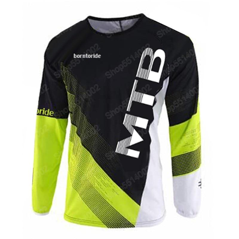 2021 Cycling Jersey Men's Mountain Bike Shirt Motocross Jersey BMX DH MTB T-Shirt Downhill Tops Sports Racing Clothes Shirts