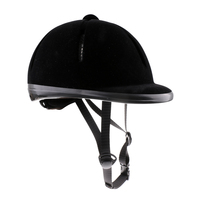 Kids Horse Riding Helmet Velvet Equestrian Rider Safety Head Hat 48 54cm