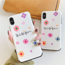 3D Flower Emboss Case For iphone X XS MAX XR Floral Silicone Matte Cases Iphone 8 7 6S 6 Plus Shockproof Soft TPU Back Cover