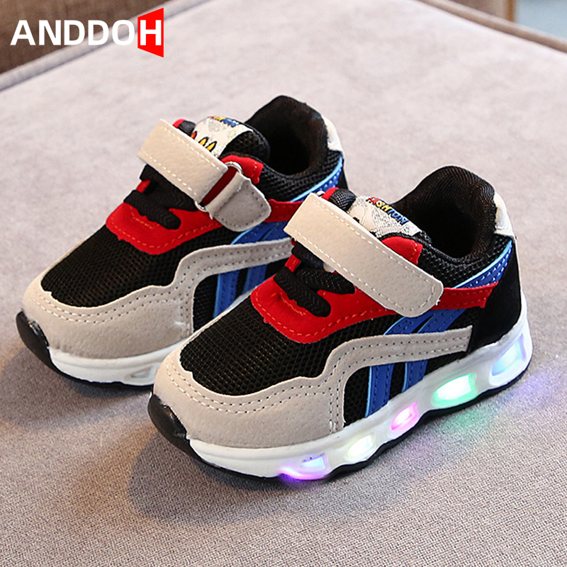 Size 21-30 Running Toddler Baby Shoes With Lights Sneakers Children With Luminous Sole Glowing Children Shoes Boy Sneakers Girl