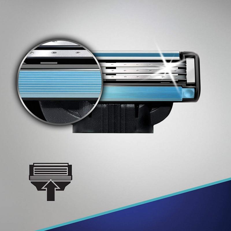 Replaceable Razor Blades for Men Gillette Mach 3 Blade Shaving 1pcs Holder 4Pcs Cassettes Shaving Mak3 Shaving Cartridge Mach3