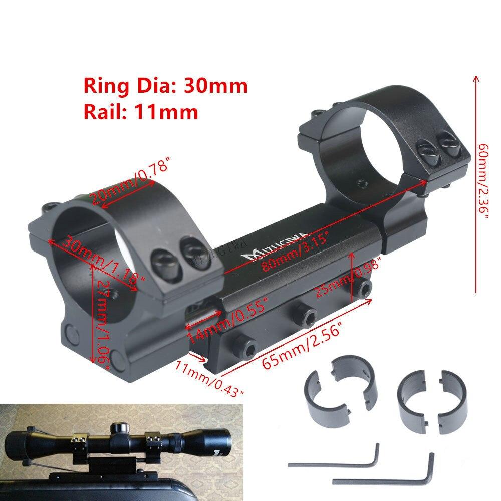 """Montaje de alcance 25,4mm 1 """" / 30mm anillos con pasador de parada montaje de retroceso cero ajuste 11mm Dovetail Picatiiny Rail Weaver sin logotipo"""