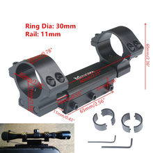 "Scope Mount 25.4mm 1"" / 30mm Rings w/Stop Pin Zero Recoil Mount fit 11mm Dovetail Picatiiny Rail Weaver no logo(China)"