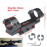 """Scope Mount 25.4mm 1"""" / 30mm Rings w/Stop Pin Zero Recoil Mount fit 11mm Dovetail Picatiiny Rail Weaver no logo"""