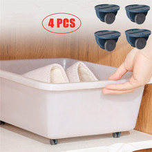 Pulley Can Home 4pcs Wheels Storage-Box Adhesive No-Noise