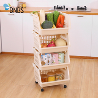 BNBS Kitchen Organizer Storage Shelves Storage And Organization For Kitchen Wheel Storage Rack Housewares Kitchen Supplies|Storage Holders & Racks|Home & Garden -
