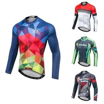Maillot de Ciclismo profesional para hombre, Ropa de manga larga para equipo...