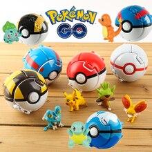 Action-Figure-Toy Poke-Ball Pikachu PVC Kids Takara Tomy Original for Christmas-Gift