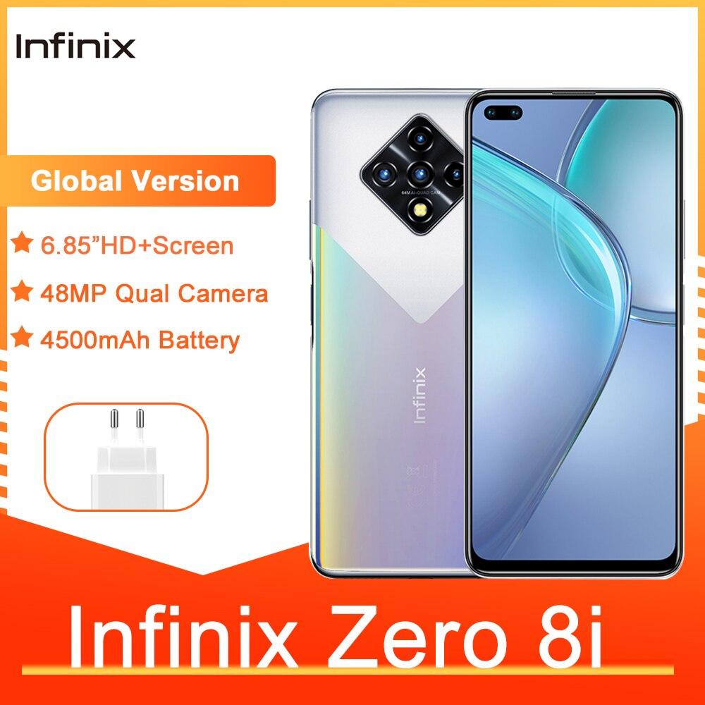 Infinix Zero 8i глобальная Версия 8GB 128GB 6,85 ''FHD 90Hz Full Screen 48MP Quad Camera 4500mAh аккумулятор дешевые мобильные телефоны
