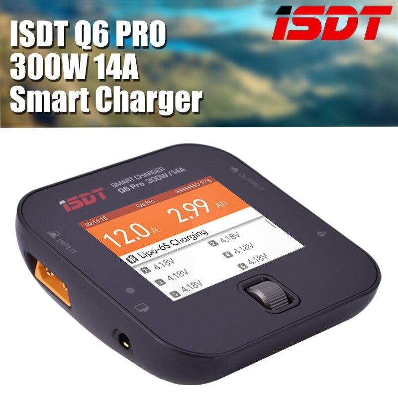 ISDT Q6 Pro BattGo 300W 14A poche chargeur numérique intelligent Lipo chargeur d'équilibre de batterie pour RC modèles bricolage pièce de rechange
