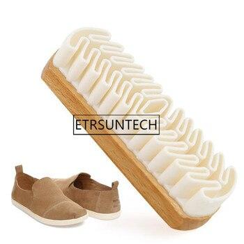 50 Uds. Cepillo de limpieza para botas y bolsos de gamuza limpiador de goma blanca cepillo de zapato crepé necesario para el hogar