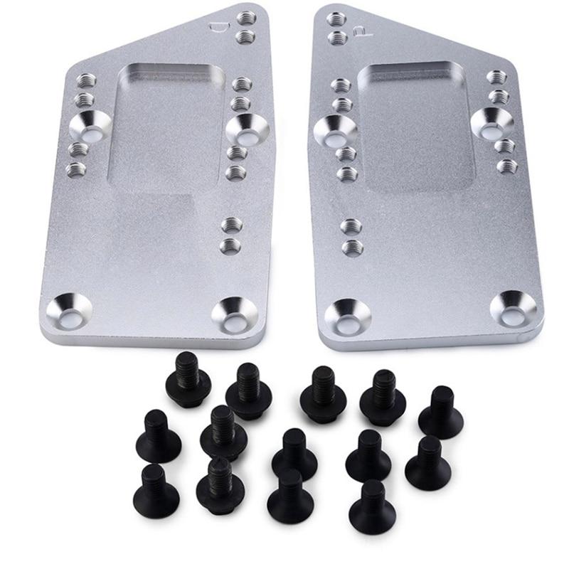 Auto Zubehör Stahl Motor Swap Klammern Umwandlung Motor Montieren Platten für LS1 Einstellbare Platte