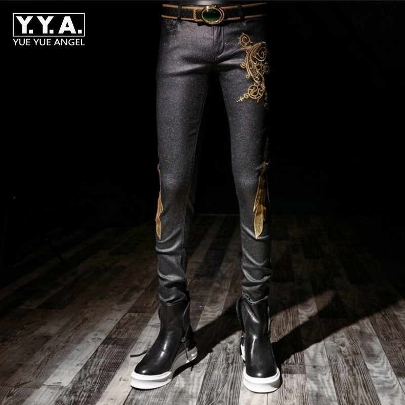 High Quality Brand Mens Trousers Fashion Solid Cotton Embroidery Male Casual Pants Streetwear Slim Fit Elastic Pants Plus Size