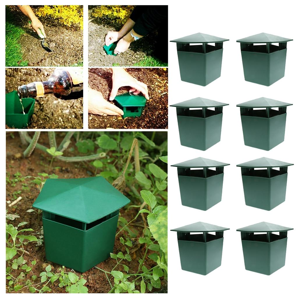 8 Pieces Beer Slug & Snail Traps Eco-Friendly To Catch Slugs Snails Catcher, Safe For Kids And Pets