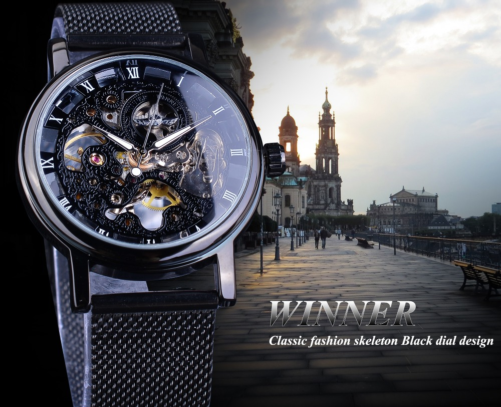 Hb08b3da172c24d718f4c5b5f2c3cb33fz Winner Stainless Steel Mesh Band Transparent Classic Thin Case Hollow Skeleton Mens Male Mechanical Wrist Watch Top Brand Luxury