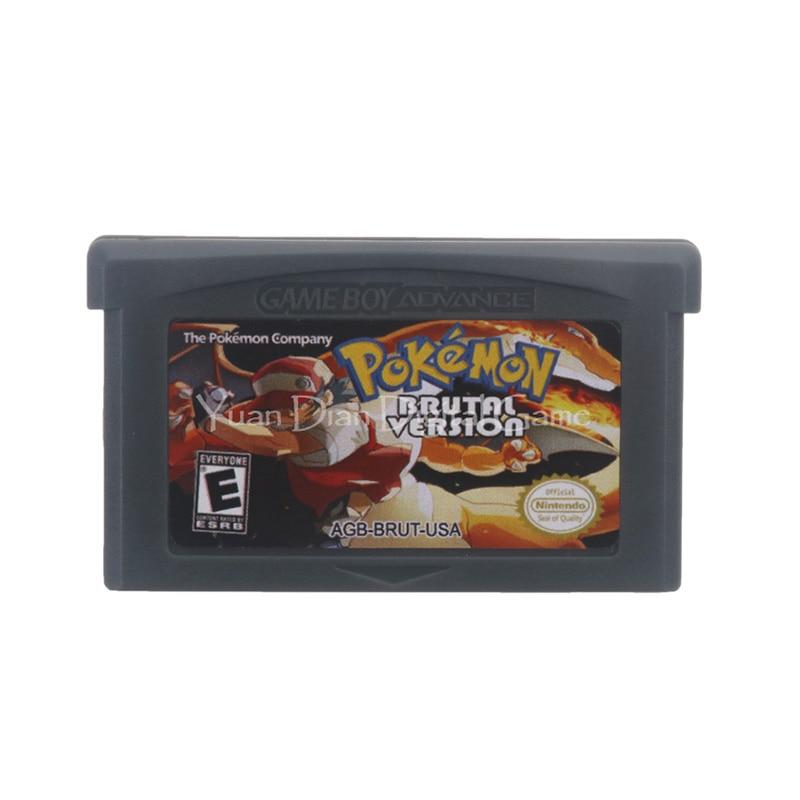 For Nintendo GBA Video Game Cartridge Console Card Poke Series Brutal Version English Language US Version