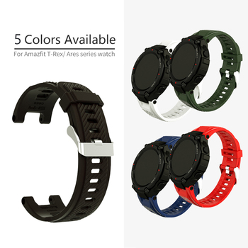 Silicone Watchband Band For Amazfit T rex Ares T-Rex Smart Watch Wrist Strap Replacement accessories Bracelet Correa ремешок