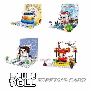 2019 New arrive Kennie Mini Blocks Christmas God of wealth snowman Brickheadz building Blocks Action Figure for children gift image