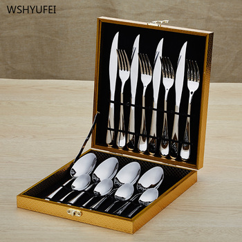 Direct selling hot cutlery cutlery spoon kitchen cutlery stainless steel business gift picnic party travel portable cutlery set фото
