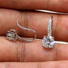 S925 argent Sterling grenat boucle d'oreille pour les femmes Fine Bizuteria Oorbellen argent 925 bijoux diamant pierres précieuses boucles d'oreilles filles
