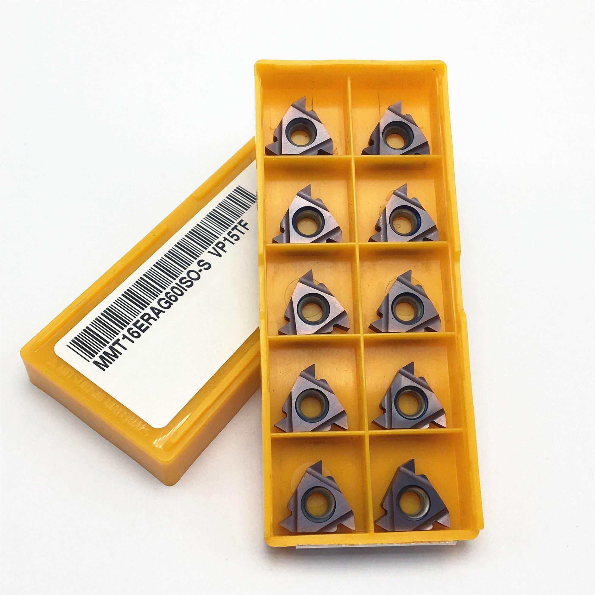 10PCS 16IR 16ER AG60 VP15TF UE6020 US735 gewinde drehen werkzeug hartmetall klinge CNC drehmaschine schlitz gewinde messer 11ERAG60 11IRAG60