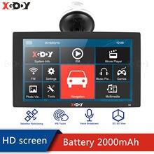 XGODY inç araba GPS navigasyon 256MB 8GB Bluetooth dokunmatik ekran kamyon GPS navigator bilgi uyarı 2020 avrupa amerika haritası