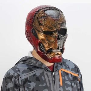 Image 2 - Zombie Iron Man Mask Gauntlet Cosplay Superhero Tony Stark Latex Masks Gloves Halloween Props