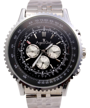 Mens LuxuryWatch Automatic Movement Mechanical Big Face 50mm Stainless Steel Black Leather Gent's Watches Chronograph фото