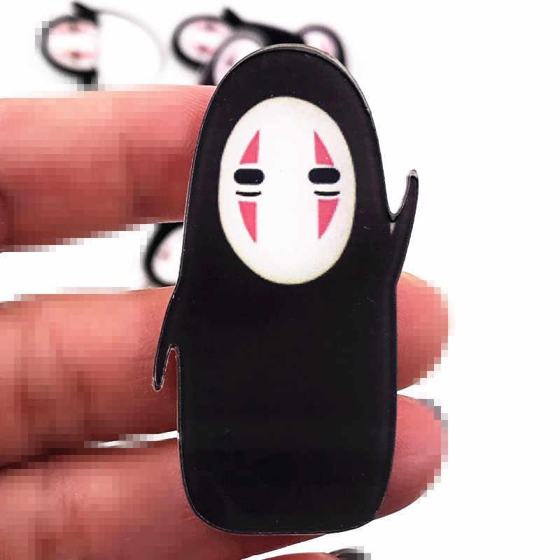 1 Pcs Baru Anime Spirited Away Karakter Ikon Bros Acrylic Lencana Tidak Ada Wajah Pria Ikon Pin Dekorasi Di Ransel pakaian
