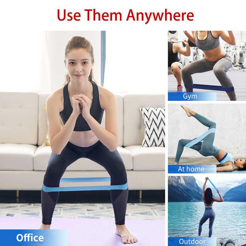 Szkolenia Fitness gumy wytrzymałość zespoły oporu Pilates Sport gumowy elastyczny pasek do treningu Fitness Expander sprzęt do ćwiczeń
