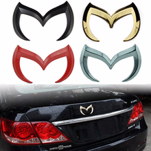 3D Evil M Emblem Logo Bat Car Trunk Assessoires Rear Badge Decal for Mazda 3 6 Mazdaspeed CX Miata