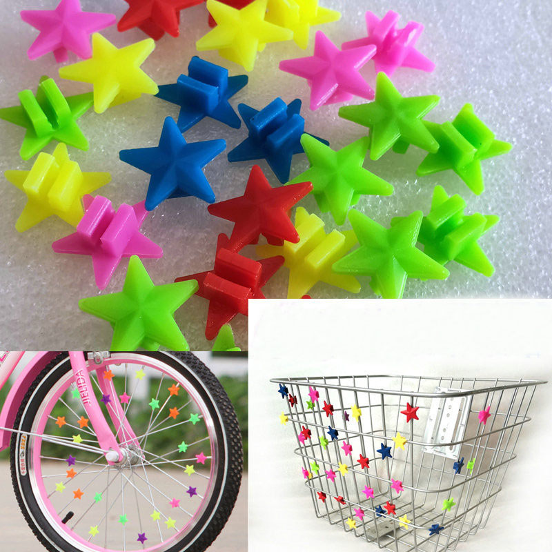 New Arrive 36PCS/LOTS Kids Bicycle Wheel Spoke Plastic Beads Multi Color Children Bicyle Baby Kid Gifts Cycling Accessories