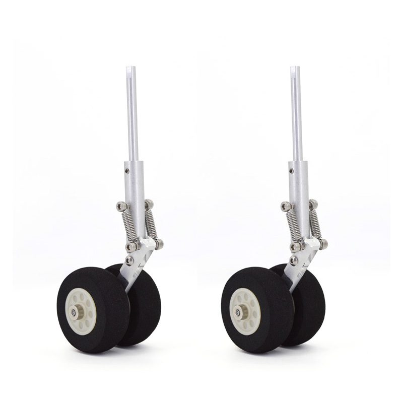 CNC 3MM/5MM Damping Landing Gear DIY Steering Wheel Landing Gears Undercarriage For FPV RC Fixed Wing Airplane Quadcopter