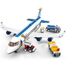 463Pcs City Airport Airbus Aircraft Airplane Avion Plane Technic Building Blocks Legoingly Bricks Educational Toys for Children