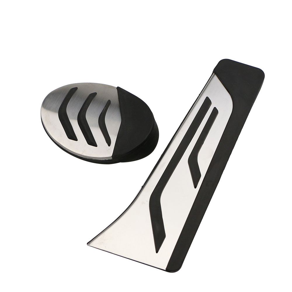 2Pcs/Set Car Pedals Fit for BMW X2 F39 2018 2019 2020 Parts AT Gas Pedal Brake Pedal Cover Color My Life