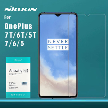 Oneplus 7 7T 6T 6 5T 5 Tempered Glass Nillkin 9H+ Pro 2.5D Clear Glass Screen Protector Film for Oneplus 7 6T 6 5T Nilkin Glass