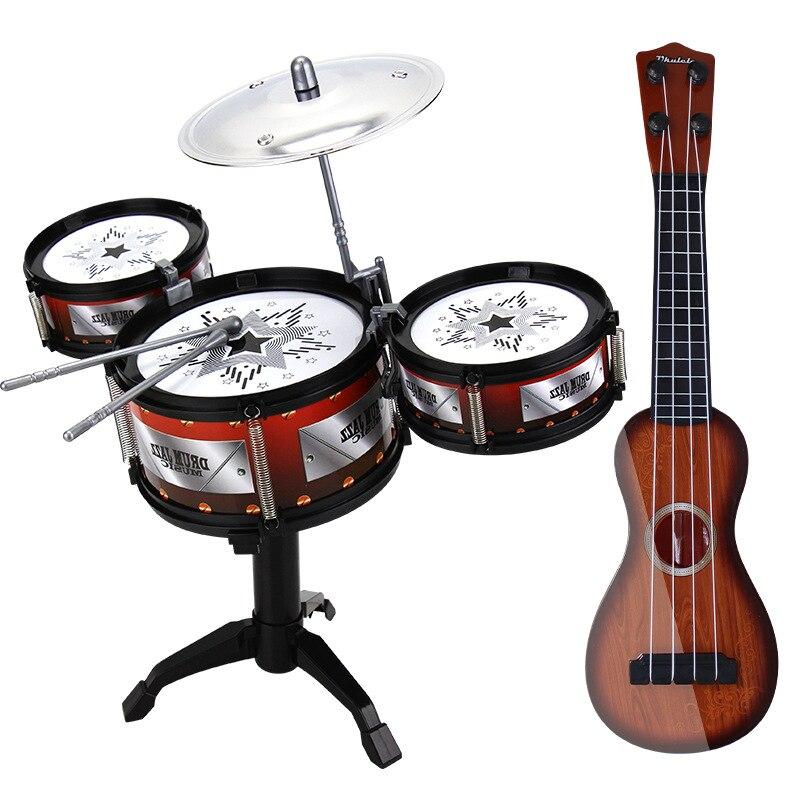 Offres spéciales jouet pour enfants Kit de batterie modèle Jazz tambour musique jouet Instrument de Percussion petite enfance éducatif filles et garçons